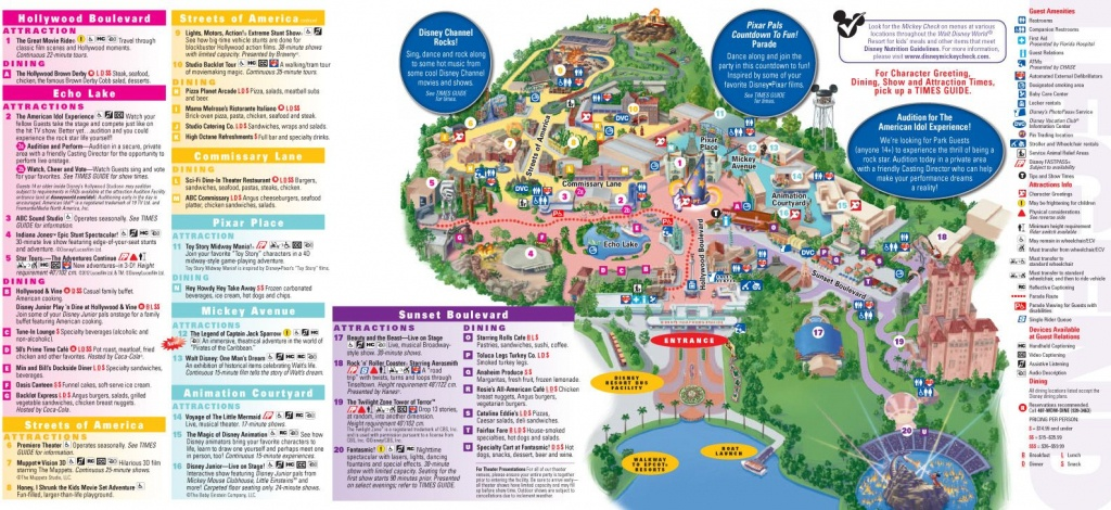 Walt Disney World Map 2014 Printable | Walt Disney World Park And - Wdw Maps Printable