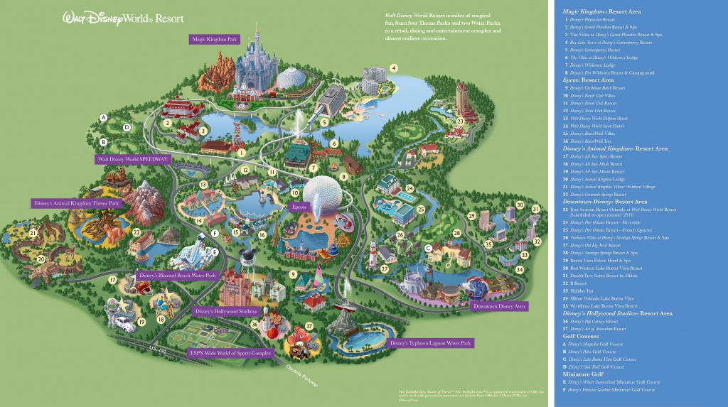Walt Disney World Maps - Parks And Resorts In 2019 | Travel - Theme - Printable Magic Kingdom Map 2017