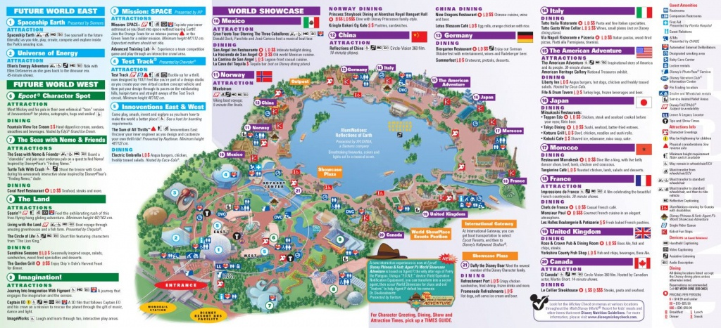 Walt Disney World Park And Resort Maps - Epcot Guidemap January 2013 - Printable Map Of Epcot 2015