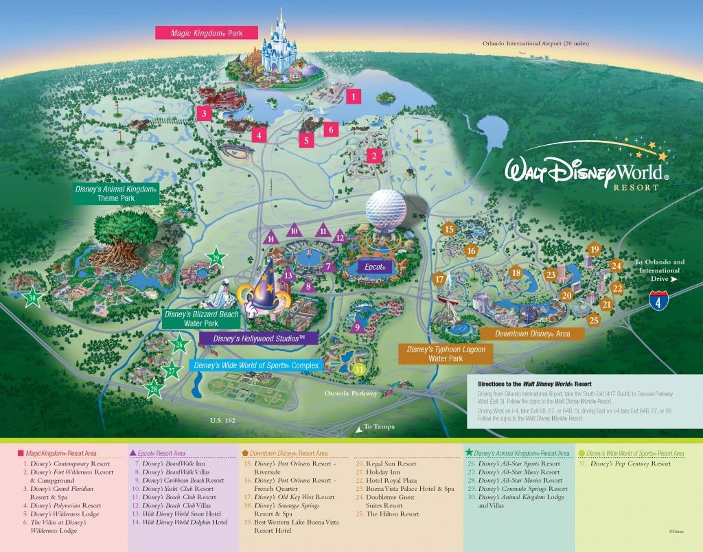 Walt Disney World - Resorts - Resort Map | Wdw -- Disney Resorts In - Disney Hotels Florida Map