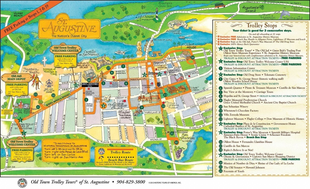 Walt Disney World To St. Augustine: A Florida Road Trip - Polka Dots - St Augustine Florida Map Of Attractions