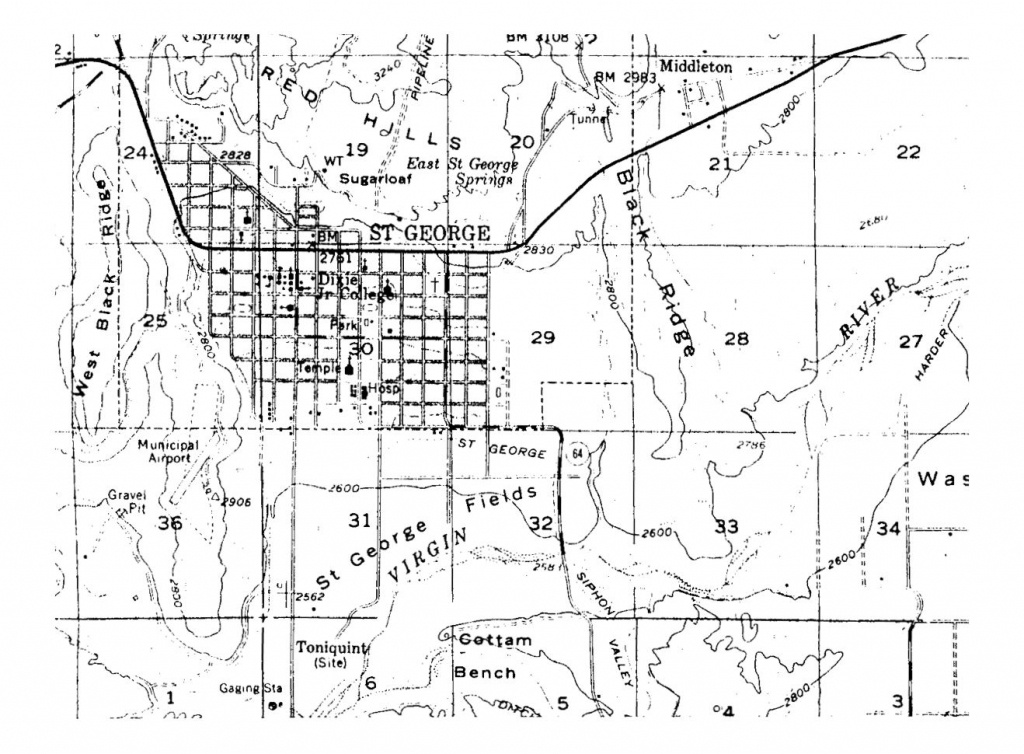 Washington County Maps And Charts - Printable Map Of St George Utah