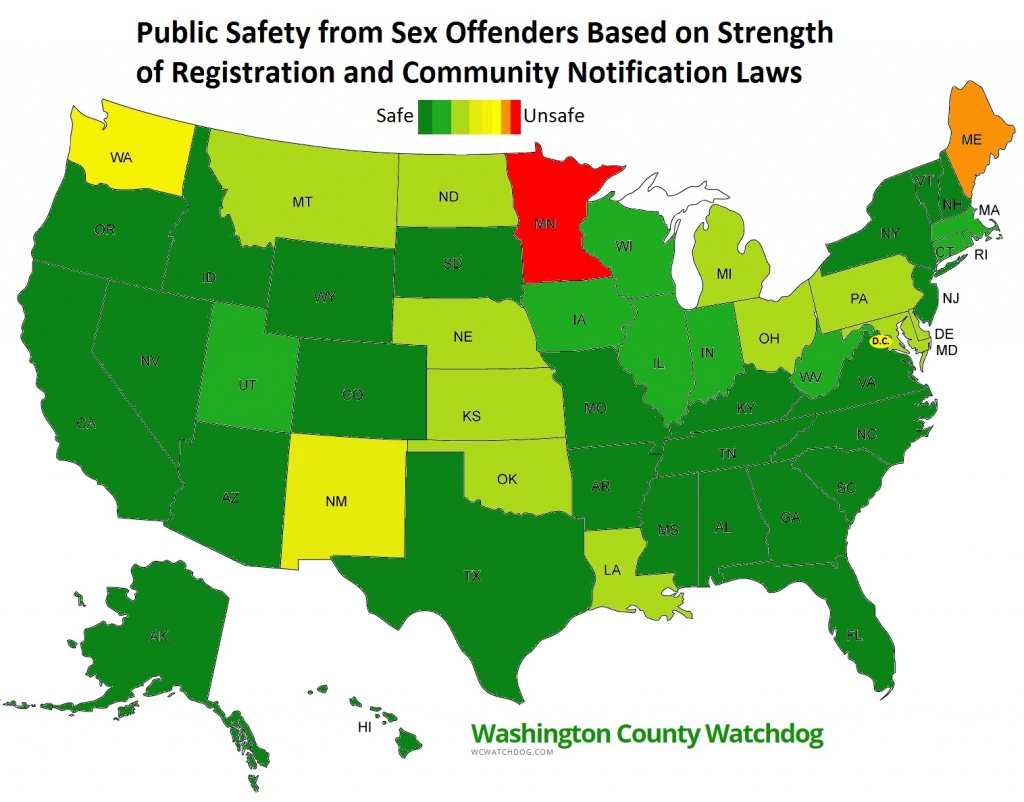 Washington County Watchdog: Watchdog Review Of Each Of The Fifty - Sexual Predator Map Florida
