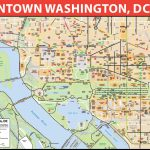 Washington, D.c. Downtown Bike Map   Map Of Downtown Washington Dc Printable