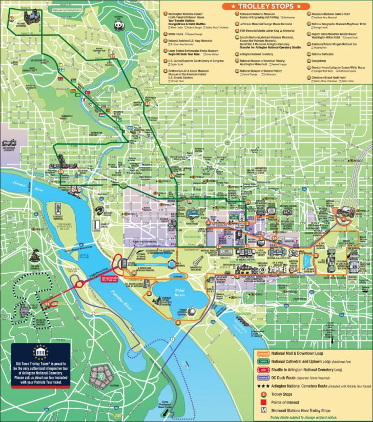 Washington Dc Tourist Map Printable