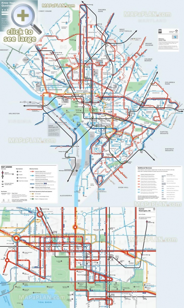 Washington Dc Maps - Top Tourist Attractions - Free, Printable City - Washington Dc Map Of Attractions Printable Map