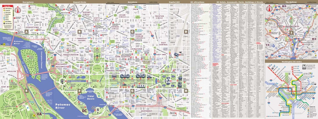 Washington Dc Mapvandam | Washington Dc Mallsmart Map | City - Washington Dc City Map Printable