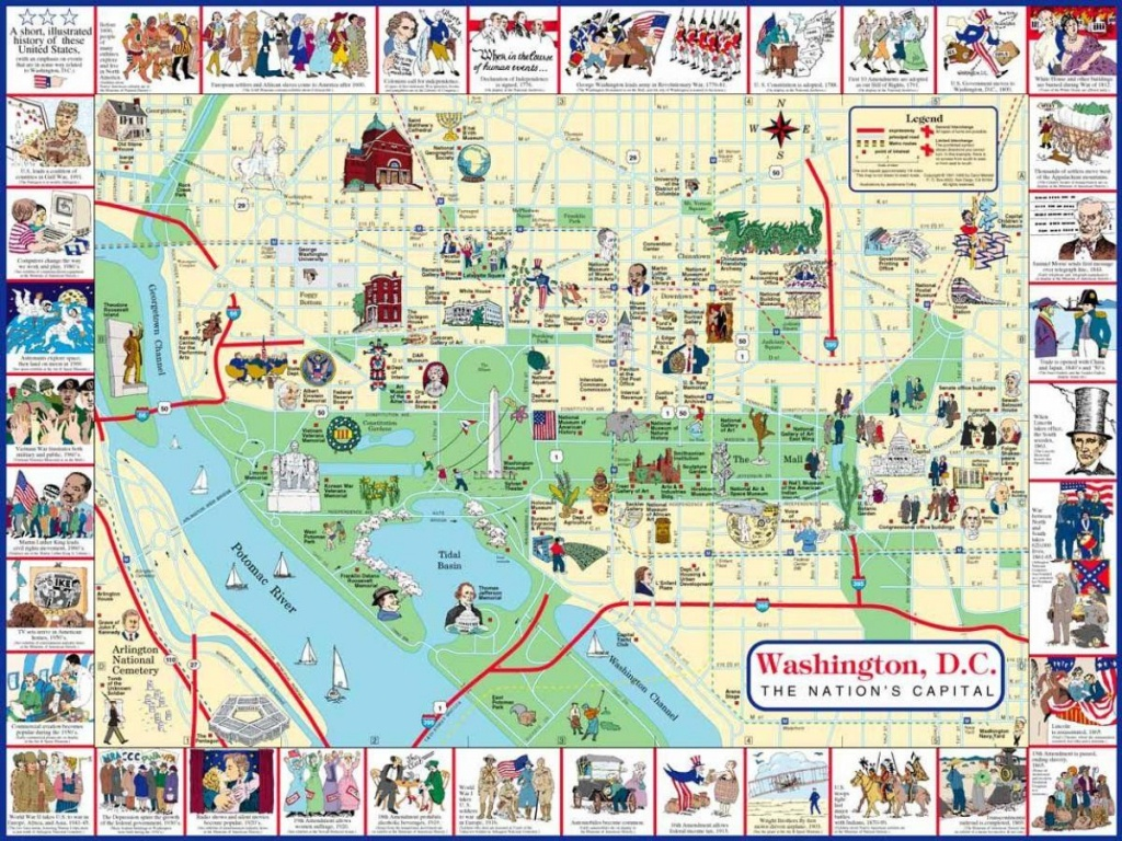 Washington Dc Sightseeing Map - Washington Sightseeing Map (District - Printable Map Of Washington Dc Sites