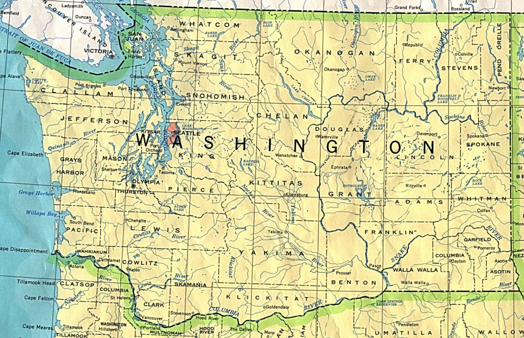 Washington Maps - Perry-Castañeda Map Collection - Ut Library Online - Washington State Road Map Printable