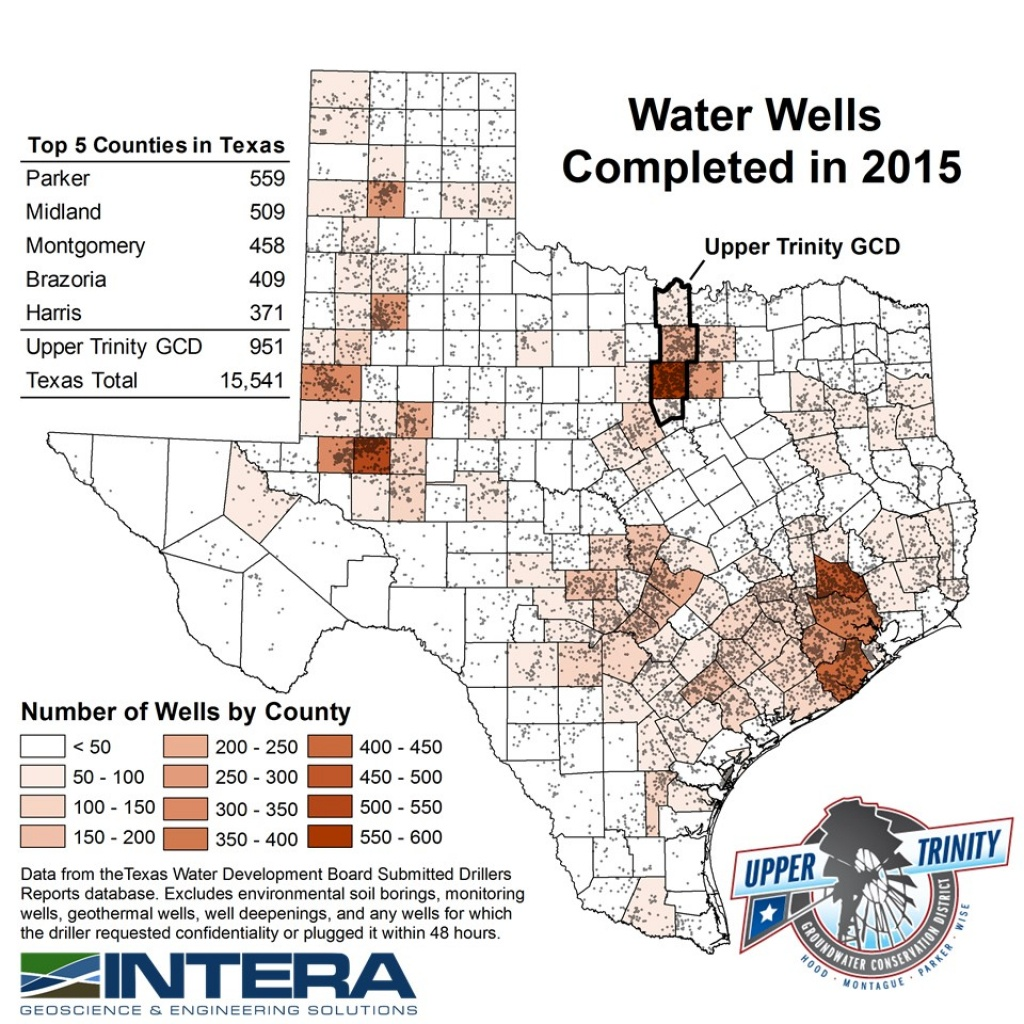 Water Well Reportcounty - Upper Trinity Groundwater Conservation - Texas Water Well Location Map