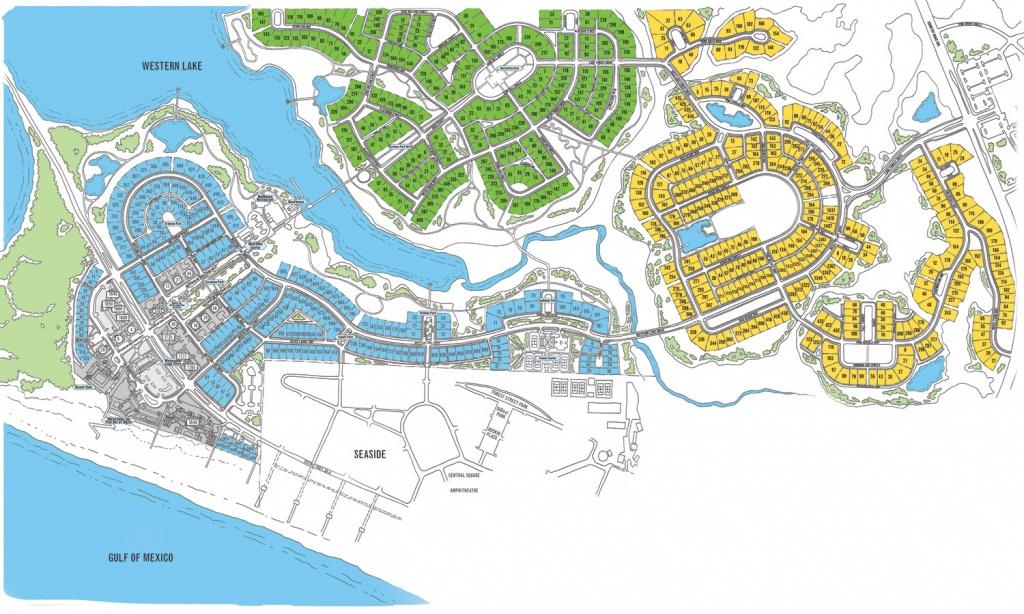 Watercolor Map Florida | Beach Group Properties - Map Of Watercolor And Seaside Florida