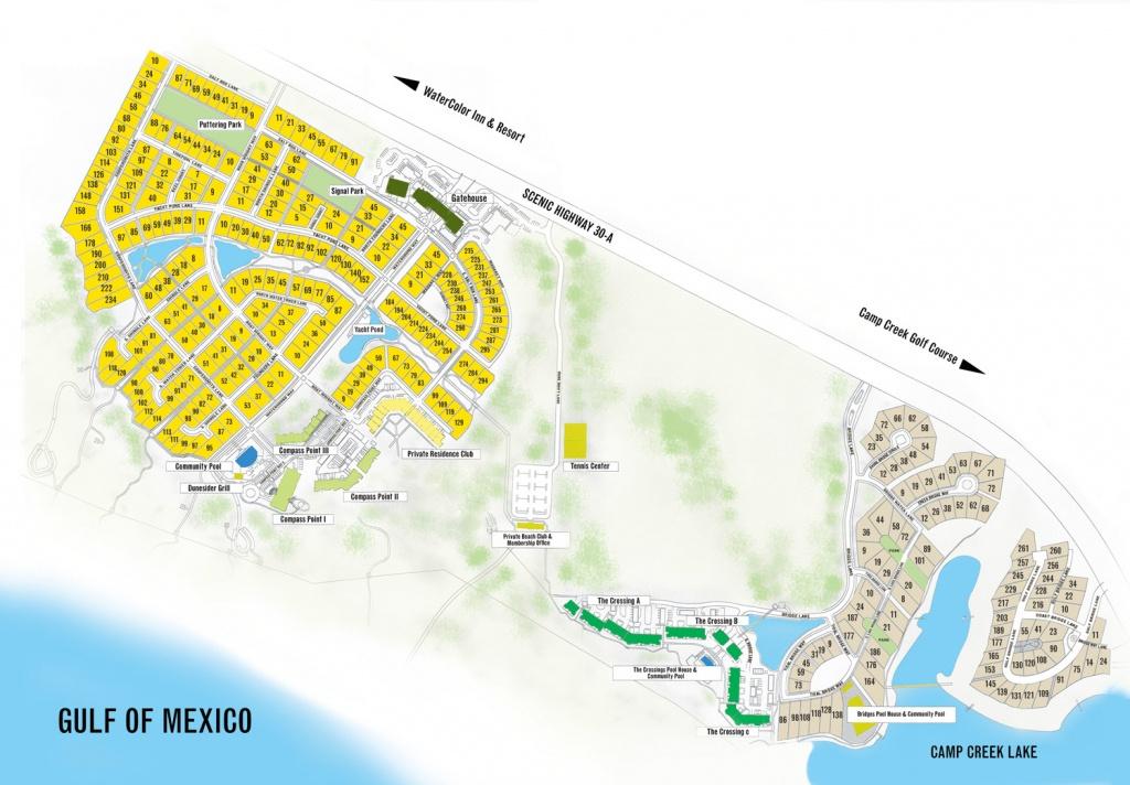 Watersound Florida Map | Beach Group Properties - Grayton Beach Florida Map