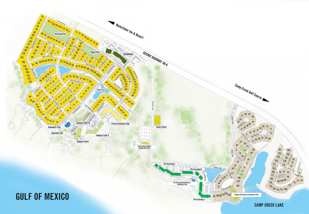 Watersound Florida Map | Beach Group Properties - Santa Rosa Sound Florida Map