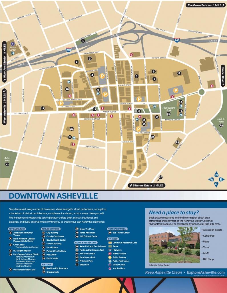 Wayfinding Downtown Map_Thumbnail | Asheville, Nc | Downtown - Printable Map Of Downtown Asheville Nc