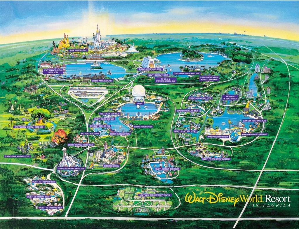 Wdw Wall Map And Walt Disney World Besttabletfor Me Within Resorts - Disney Orlando Florida Map