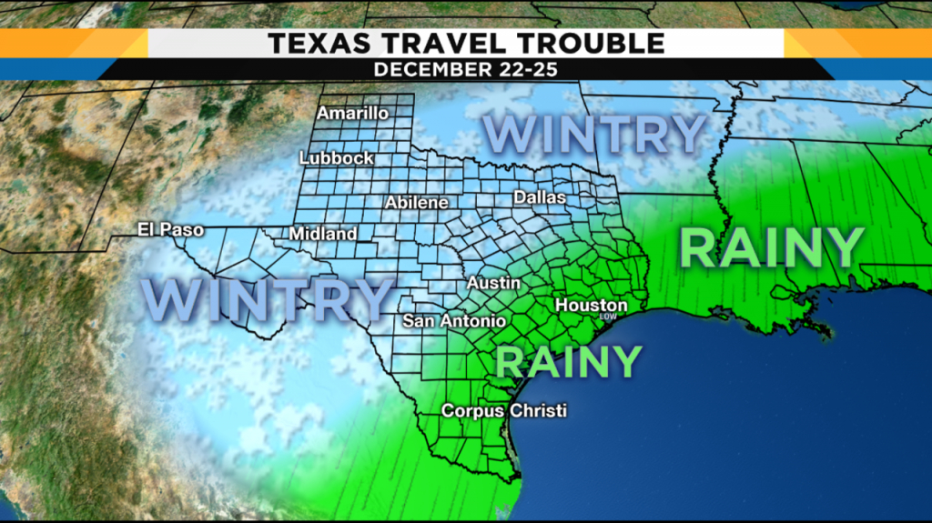 Weather Forecast Leading Into Christmas Hints At Travel - Texas Weather Map Today