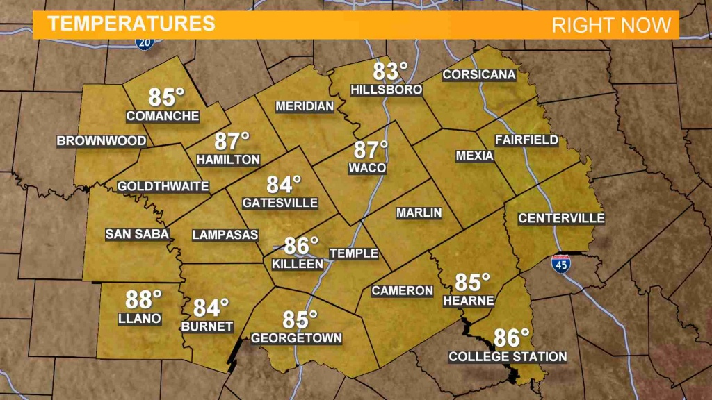 Weather Maps On Kcentv In Waco - Waco Texas Weather Map