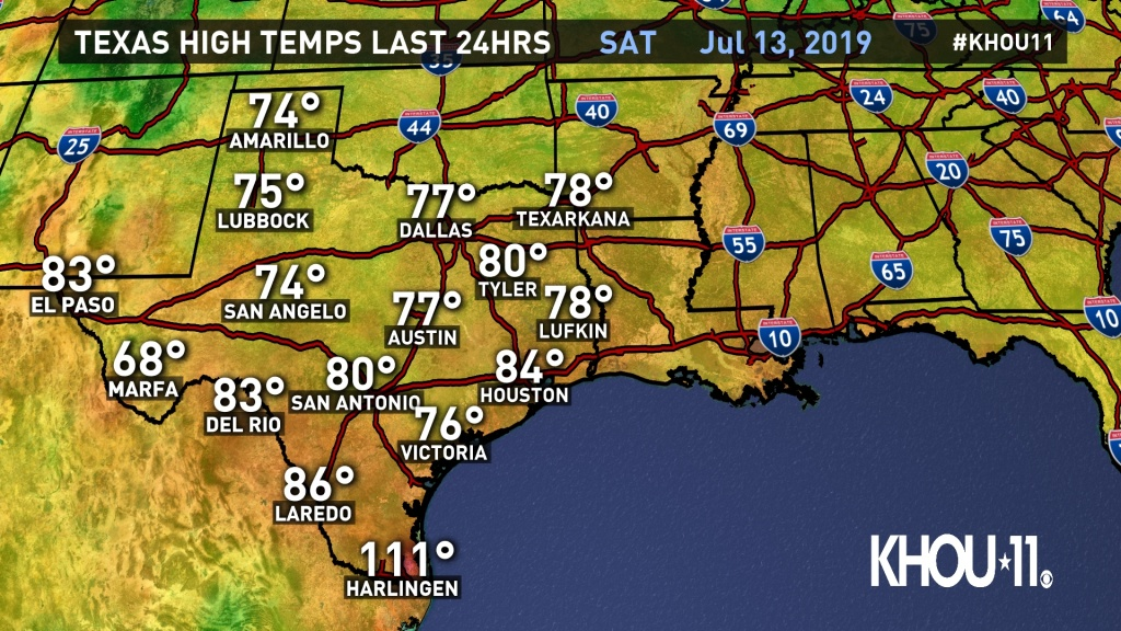 Weather Maps On Khou In Houston - Texas Weather Map Temps