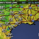 Weather Maps On Khou In Houston   Texas Weather Map Temps