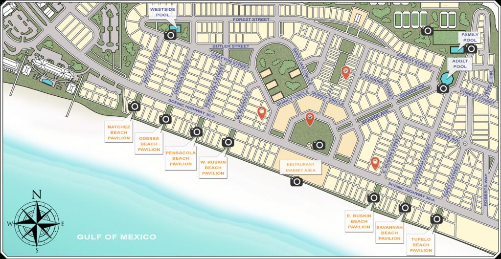 Website - Seaside Sample Map - Map Of Seaside Florida Area