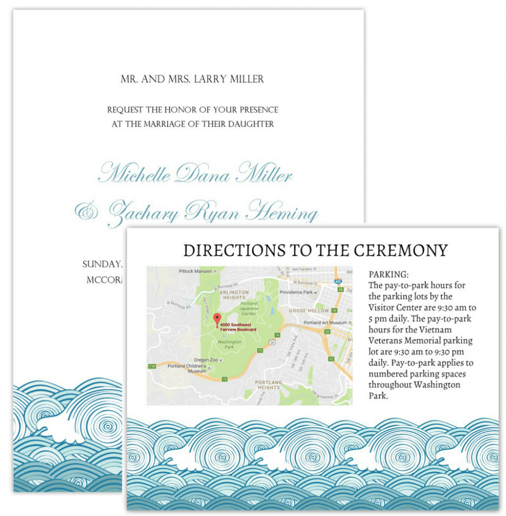 Wedding Invitation Maps - Printable Map Directions For Invitations