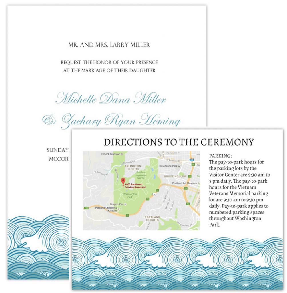 Wedding Invitation Maps - Printable Maps For Wedding Invitations Free