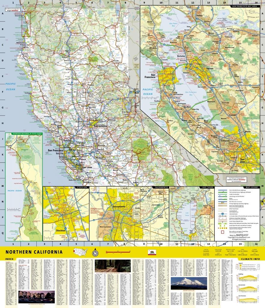 Wegenkaart - Landkaart Guide Map Northern California | National - National Geographic Maps California