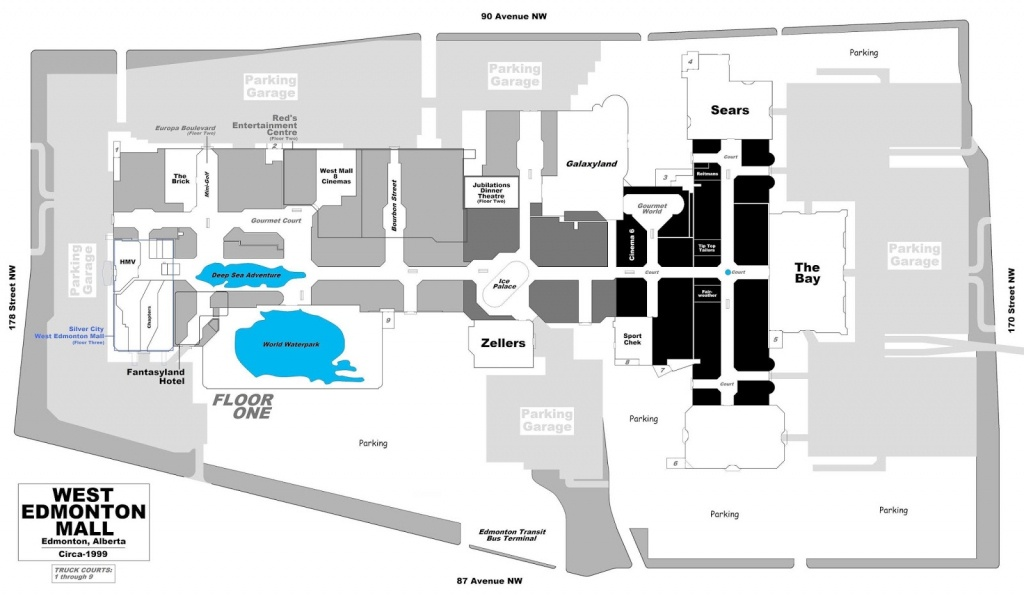West Edmonton Mall | Renovations - Page 49 - Printable West Edmonton Mall Map