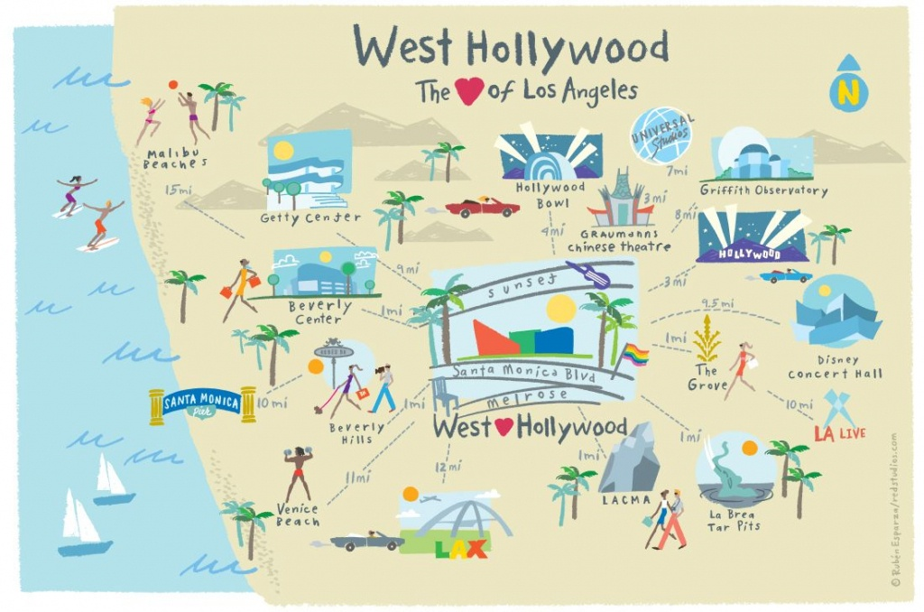 West Hollywood, Ca Guide To Hotels, Shopping, Restaurants, Things To - California Things To Do Map