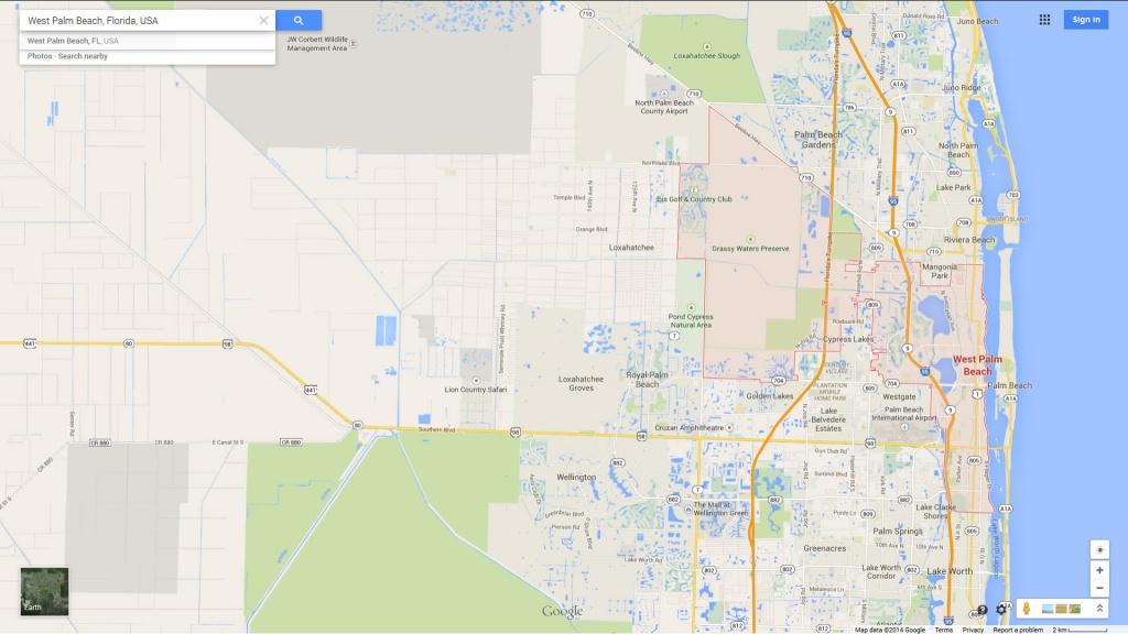 West Palm Beach, Florida Map - Palm Beach Florida Map