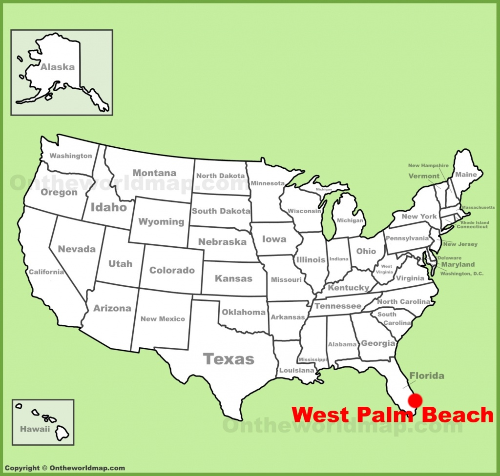 West Palm Beach Location On The U.s. Map - West Palm Beach California Map