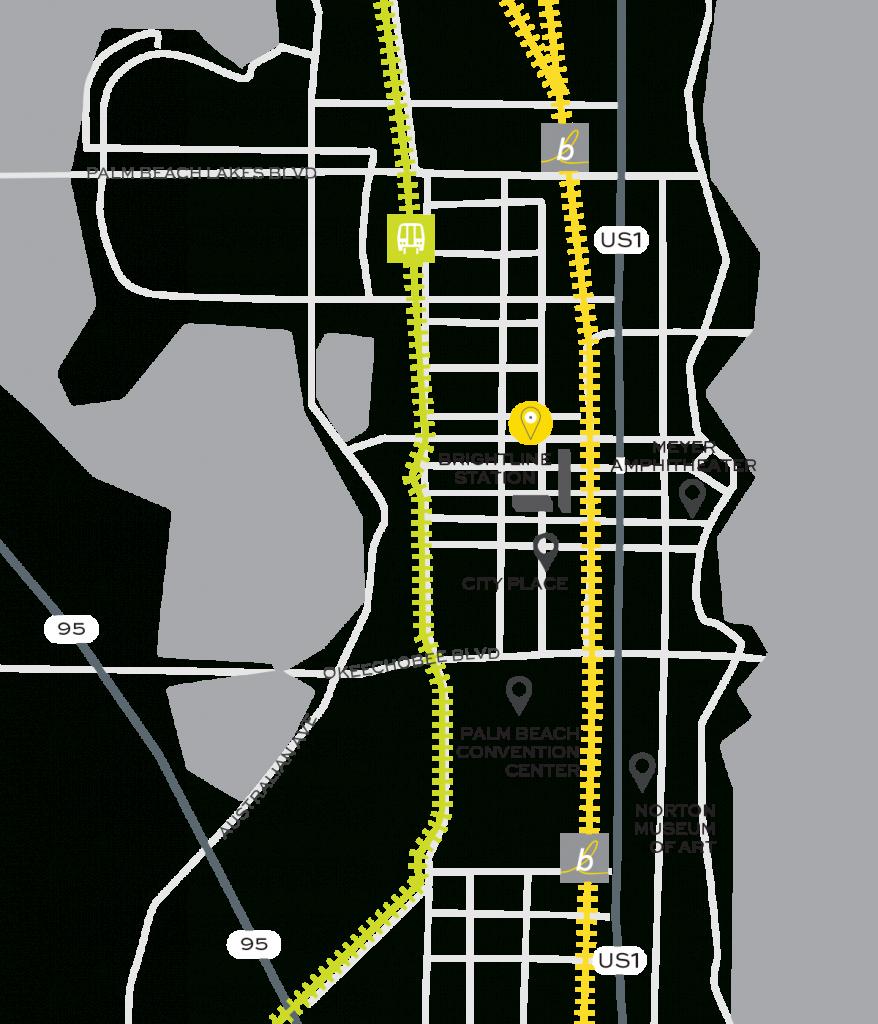West Palm Beach Train Station | Brightline - Brightline Florida Map