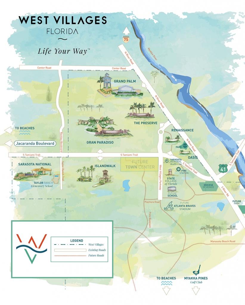 West Villages Florida Map - Map Of West Villages Florida - Map Of The Villages Florida Neighborhoods