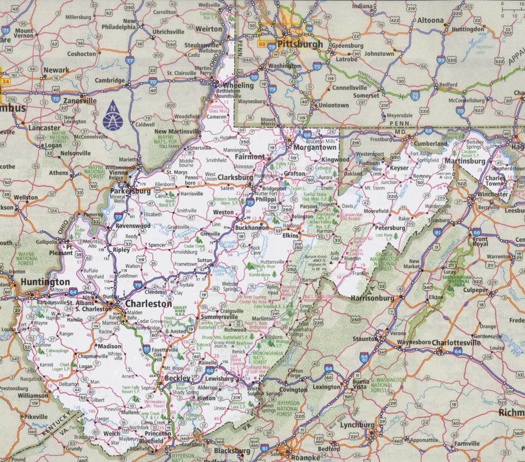 West Virginia Road Map - Printable Map Of West Virginia