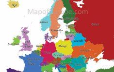 Printable Map Of Western Europe