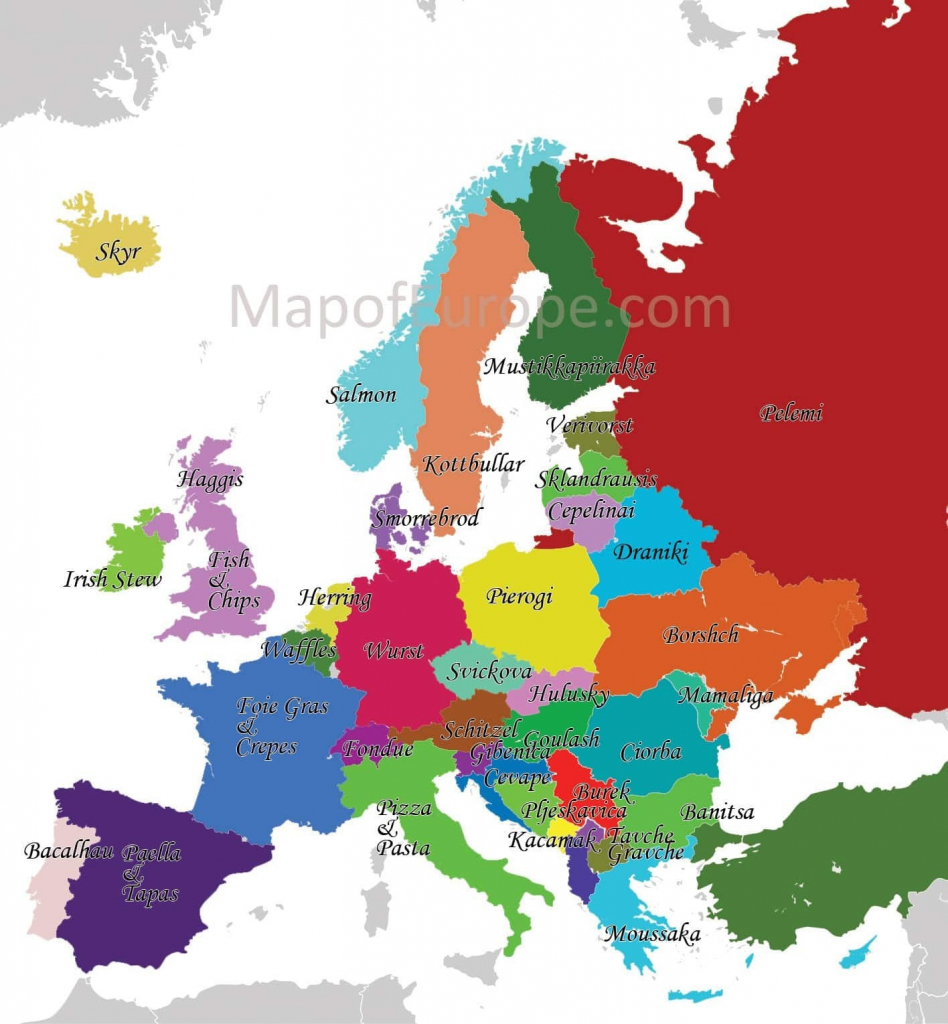 Western Europe Map Labeled - World Maps - Printable Map Of Western Europe