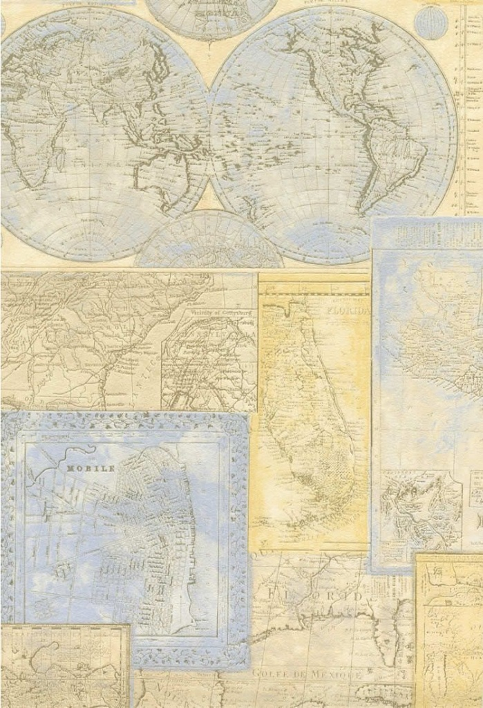 What If We Wall Papered A Wall At Gmc With Old Maps Of Texas? @beth - Texas Map Wallpaper