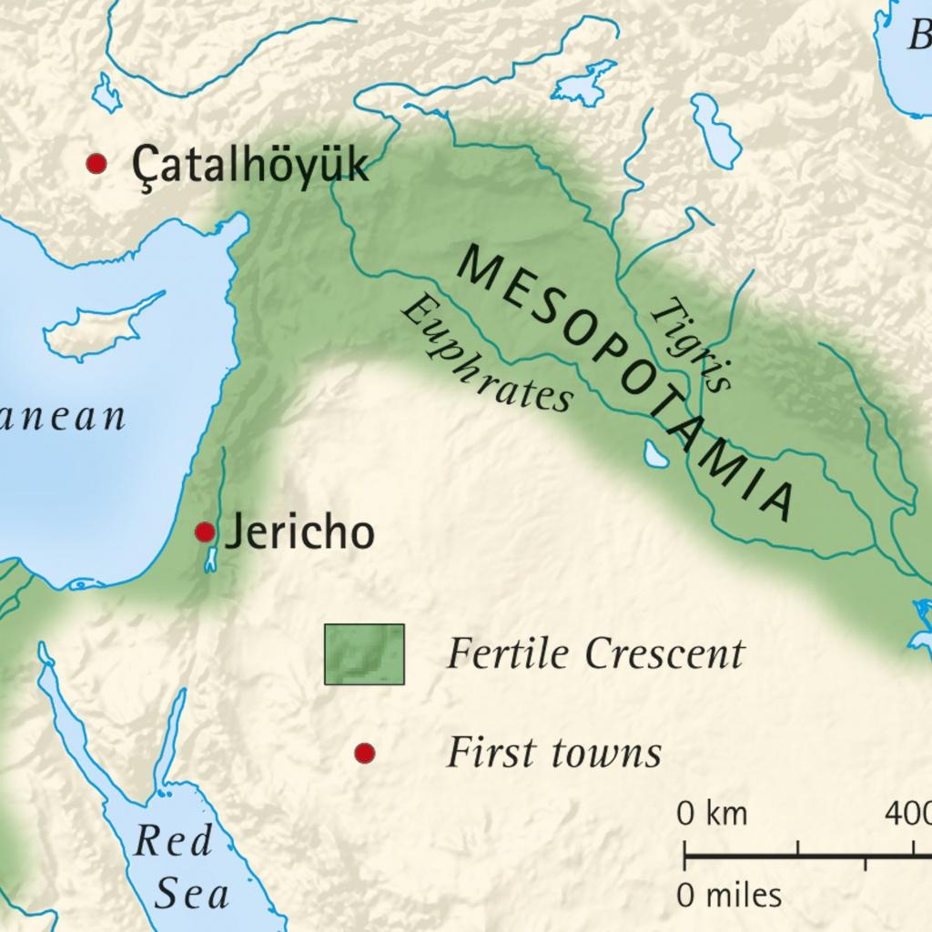 What Was The Fertile Crescent? - Fertile Crescent Map Printable