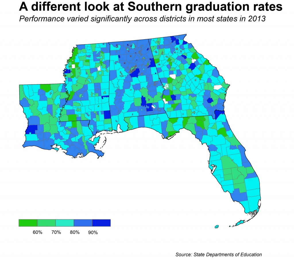 What's Behind The Deep South's Low High School Graduation Rates? - Florida School Districts Map