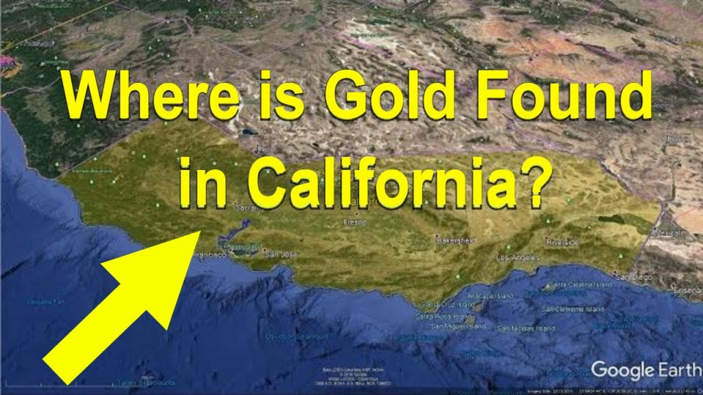 Where Is Gold Found In California? (Gold Prospecting) - California - California Gold Prospecting Map