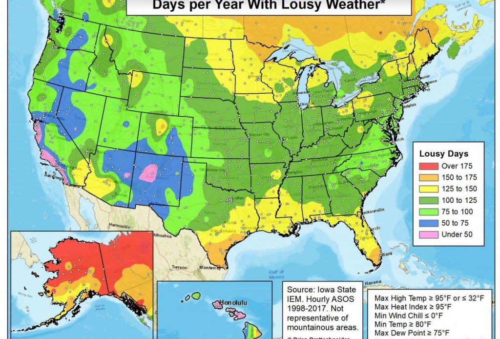 Who Has The Worst Weather? - Chill Hours Map California