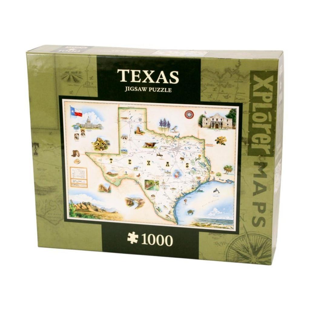 Whole Earth Provision Co. | Masterpieces Xplorer Texas Map 1000 - Texas Map Puzzle