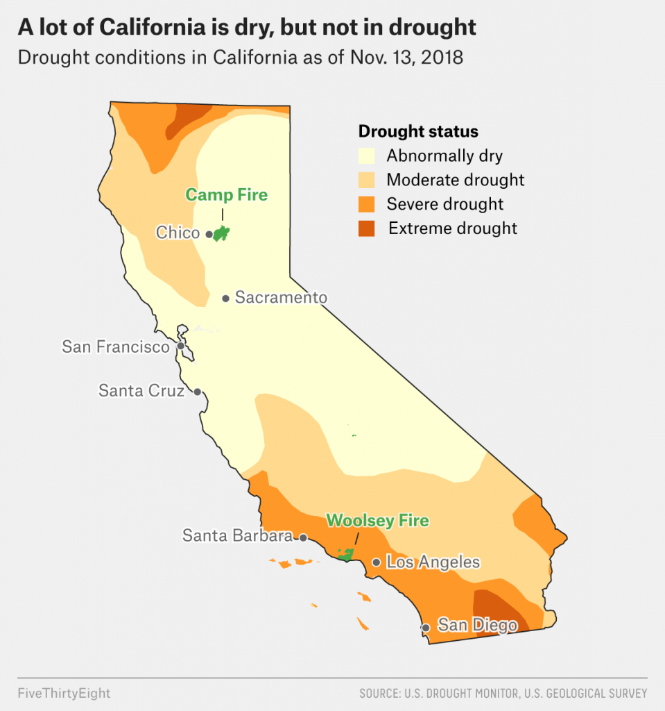 Why California's Wildfires Are So Destructive, In 5 Charts - 2018 California Fire Map