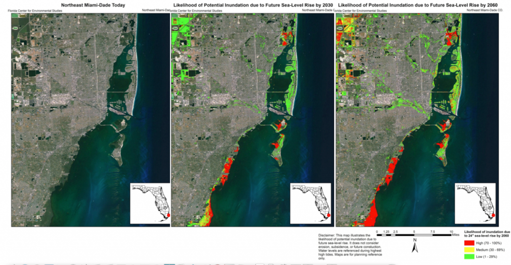 Why Sea-Level Rise Might Hurt Poor Neighborhoods More Than Coastal - Florida Water Rising Map