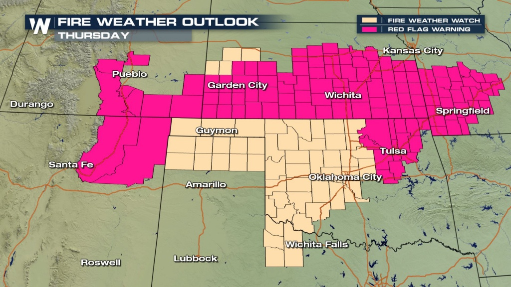 Wildfire Risk For The Central And Southern Plains - Weathernation - Current Texas Wildfires Map