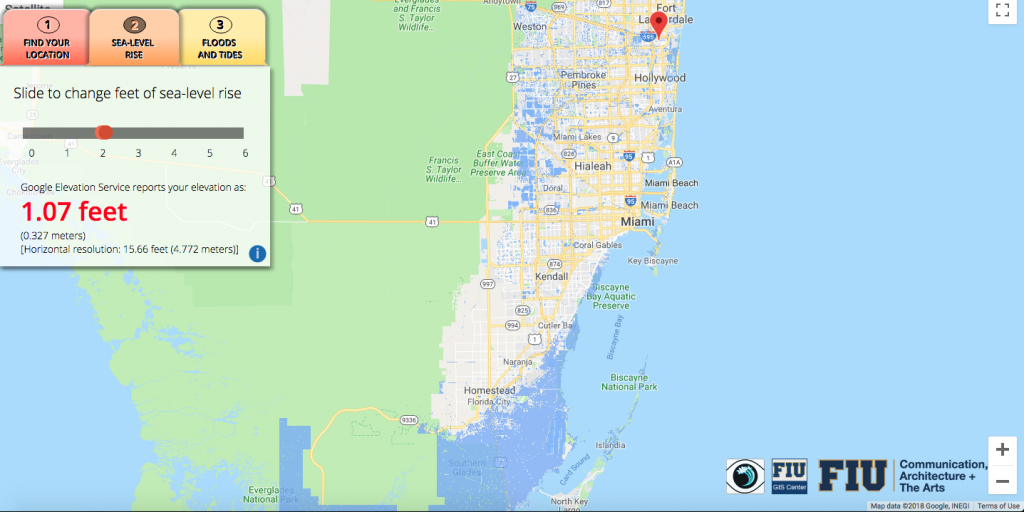 Will Flooding From Sea-Level Rise Impact Your House? This App Lets - South Florida Sea Level Rise Map