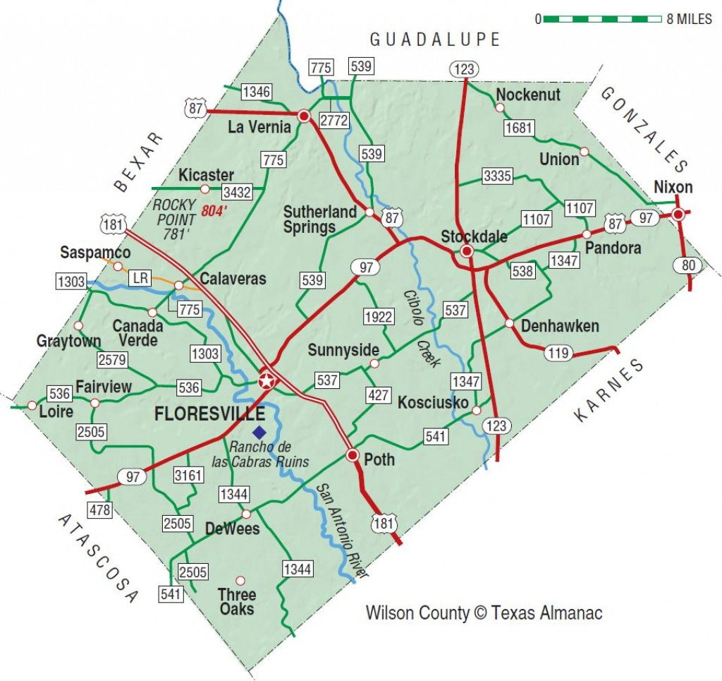 Wilson County | The Handbook Of Texas Online| Texas State Historical - Pipe Creek Texas Map
