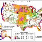 Wind Generation Potential In The United States   Wikipedia   Electric Transmission Lines Map Texas
