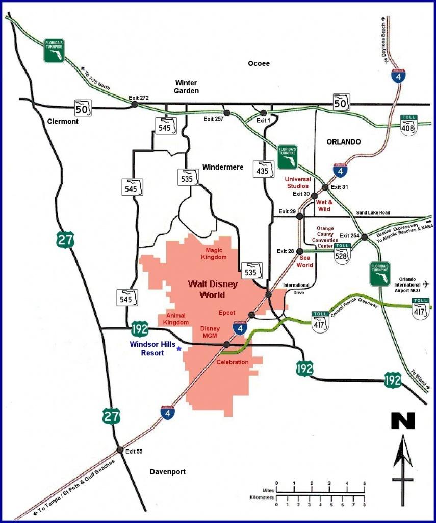 Windsor Hills Villa And Townhouse Rental Kissimmee, Florida - Emerald Island Florida Map