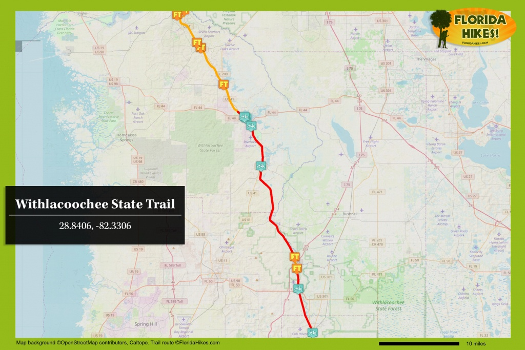 Withlacoochee State Trail | Florida Hikes! - Rails To Trails Florida Map